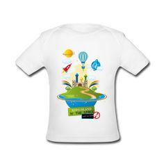... vêtements GraphiCK-Kids · Tee Shirt bio bébé Kid s island in the space 2eb18ed181d