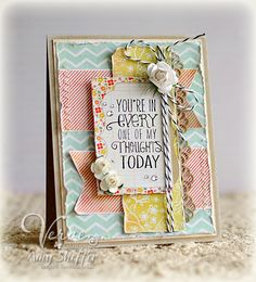 Card by Amy Sheffer using the Always on My Mind set from Verve Stamps. #vervestamps