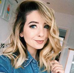 Love her hair and makeup here👏🏻👑 zoey sugg aka. Zoella Makeup, Zoella Hair, Dye My Hair, New Hair, Headband Hairstyles, Cool Hairstyles, Gorgeous Hairstyles, Space Buns Hair, Lorde Hair
