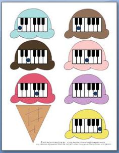 FREE Printable Music Game to Learn the piano Keys