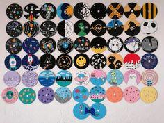 Cd Wall Art, Cd Art, Indie Room Decor, Cute Bedroom Decor, Vinyl Record Art, Vinyl Art, Mini Canvas Art, Diy Canvas, Cd Crafts