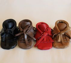 Baby & Toddler Leather Moccasins!