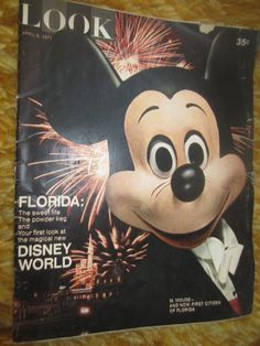 APRIL 6 1971 LOOK magazine DISNEY WORLD Mickey Mouse Cover