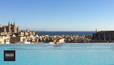 Infinite pool | Nakar Hotel  #designhotels #lifestylehotels #seaviews #mediterranean #palma #mallorca #rooftoppool