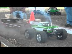 "Finishline RC ""Truck Pulling"" With funny Mini Slash Rampage!"