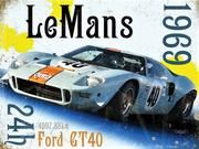 Ford Shelby Cobra Tableau Poster Plaque Photo Déco Sport 24H Le Mans