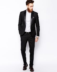 Buy ASOS Tuxedo Suit in Slim Fit at ASOS. Get the latest trends with ASOS now. Tuxedo Pants, Tuxedo Suit, Tuxedo For Men, Terno Slim Fit, Costume Smoking, Harry Styles Photoshoot, Costume Slim, Asos, Slim Fit Tuxedo