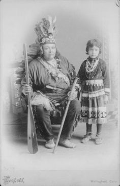 Jesse Martin and his great niece - Iroquois (Mohawk) - circa 1891