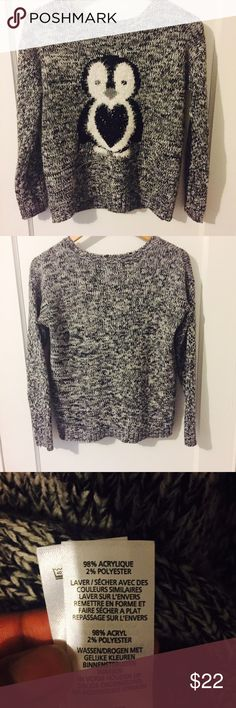 """HP/1/17/17Penguin Sweater In Great Condition/ Bust:19"""" Length: 22"""" UK Size 6 Atmosphere Sweaters Crew & Scoop Necks"""