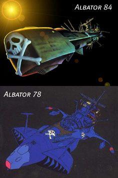 Atlantis - Arcadia (Albator - Harlock) Stargate, Space Pirate Captain Harlock, Japanese Superheroes, Robot Cartoon, Science Fiction, Jolly Roger, Conceptual Design, Animation, Classic Cartoons