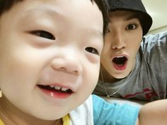 Taeyong with his nephew ♡ Nct Taeyong, Jaehyun, Rapper, Childhood Photos, Lucas Nct, Jisung Nct, Entertainment, Jung Woo