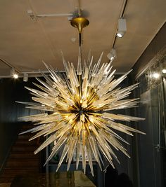 Pair of Murano Glass Chandeliers | From a unique collection of antique and modern chandeliers and pendants  at http://www.1stdibs.com/furniture/lighting/chandeliers-pendant-lights/