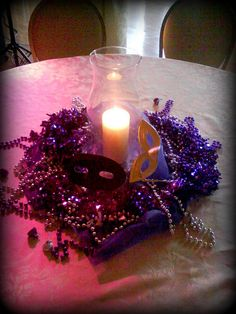 Prom Centerpiece Table by Mathews Manor. Get your Masquerade Masks to use for your centerpieces at houseofmaquerades.com !