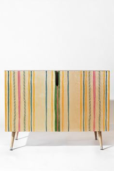 Rachelle Roberts Ticker Stripe Credenza | DENY Designs Home Accessories