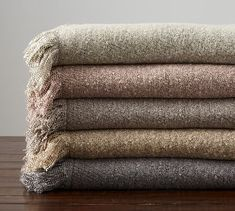 Heathered Boucle Fringe Throws #potterybarn Fur Throw Pillows, Faux Fur Throw, Throw Blankets, Pottery Barn Fall, Glass Votive Candle Holders, Boucle Yarn, Thrown Pottery, Knitted Throws, Color
