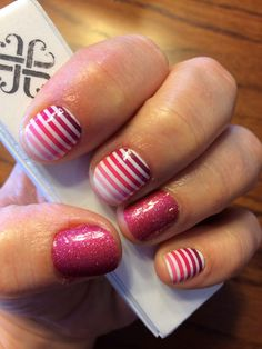 This is a perfect combination for Christmas or the 4th of July! Just add a bit of blue and your set :)  http://www.karensauer.jamberrynails.net/
