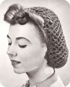 A charming, classic crochet snood. I wore these in 5th grade because I loved the Civil war era, now I wear them because I love the WWII era.