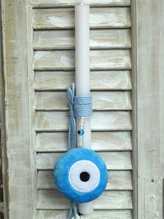 Χειροποίητη πασχαλινή λαμπάδα με μάτι για αγόρια, Light Bulb Vase