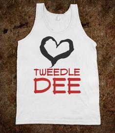 OMG tweedle people needed this shirt for alice in wonderland!