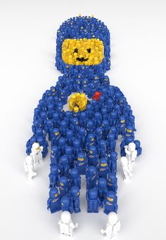LEGO Spaceman is made of LEGO Spacemen