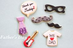 sugar icing cookies for father's day