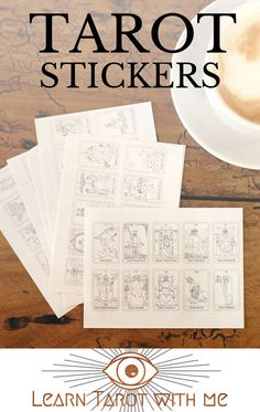78 small tarot stickers - 1 sticker for each of the 78 tarot cards - Based on…