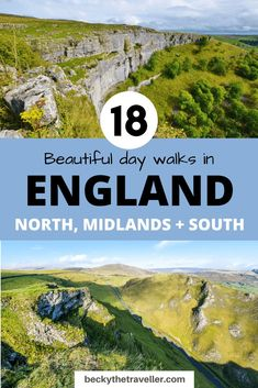Beautiful Day Hikes in England. Includes beautiful walks in the English Countryside and National Parks in England. Walks in the Lake District, Peak District, Yorkshires, South Coast, Devon, Dorset and many more great locations   18 BEST Day Hikes In England (+ Walking Routes) - Becky the Traveller #england #walking Lake District Walks, Peak District, Highlands, Sightseeing London, Scotland Hiking, Dartmoor National Park, Norfolk Coast, Walking Holiday, Walking Routes