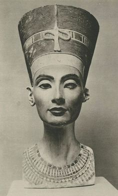 The Nefertiti Bust is a 3300-year-old painted stucco-coated limestone head of Nefertiti, Great Royal Wife of Egyptian Pharaoh Akhenaten. It is believed to have been made in 1345 BCE by the sculptor Thutmose, because it was discovered in his workshop in Amarna, Egypt.