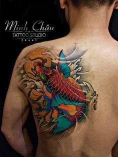 Sugar Skull Tattoos, 3d Tattoos, Fish Tattoos, Dragon Head Tattoo, Tatto Studio, Koi Tattoo Design, Koi Fish Tattoo, Japanese Tattoo Designs, Oriental Tattoo