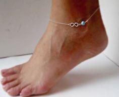 Infinity Fußkettchen, Fußkettchen von Superarmband auf DaWanda.com
