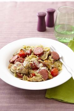 Orzo Salad with Artichokes and Sausage recipe