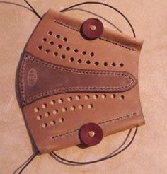 Armguard from The Traditonal Woodsman Archery Gear, Leather Working Patterns, Archery Accessories, Leather Bracers, Arm Guard, Traditional Archery, Leather Carving, Bow Hunting, Crossbow