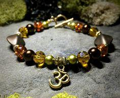 Beautiful Gold Ohm Charm Bracelet !! www.etsy.com/shop/nouveauyourself