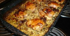 This chicken is so delicious, you won't even be able to stand it! No Peek Chicken, Uncle Ben, Wild Rice Recipes, Creamed Mushrooms, Stuffed Mushrooms, Mushroom Soup, Original Recipe, Box, Chicken Recipes