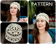 5c0919afd1d Vintage Crochet Hat Pattern PDF - Women s Retro Hat Crochet Pattern Instant  Downloads - DIY Boho Crochet Hat For Women With Diagram Scheme