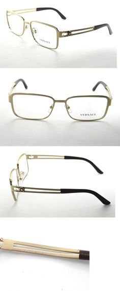 2effe9741d01d Fashion Eyewear Clear Glasses 179244  Versace Eyeglasses 1236 1378 Matte  Gold And Brown Frame 55Mm -  BUY IT NOW ONLY   90 on eBay!