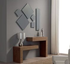 modern console table design ideas with mirror 2019 Home Decor Furniture, Diy Home Decor, Furniture Design, Futuristisches Design, Interior Design, Design Ideas, Living Room Decor, Bedroom Decor, Modern Console Tables