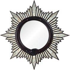 Charlize Global Bazaar Oxblood Sunburst Mirror (80 010 UAH) ❤ liked on Polyvore featuring home, home decor, mirrors, sun shaped mirror, sunburst mirror and sun burst mirror