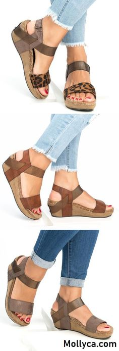 These look comfy.Buy 2 Got OFF Code: mollyca Med Wedge Comfortable Platform Women Sandals Moda Fashion, Fashion Shoes, Fashion Outfits, Womens Fashion, Style Fashion, Cute Shoes, Me Too Shoes, Look Chic, Devon