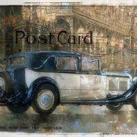 Postales Retro de Coches Antiguos.