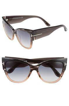 Love the classic silhouette of these Tom Ford gradient sunglasses.