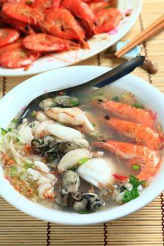 seafood congee soup | Taiwanese Food