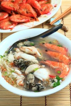 seafood congee soup   Taiwanese Food