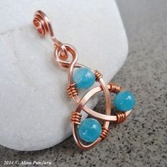 Wire wrapping #wirejewelry