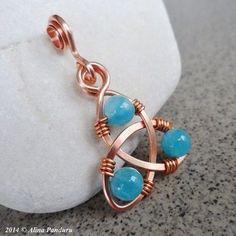 Jewelry Making Celtic Knot Pendant - Blue Angelite - Celtic Knot Jewelry, Jewelry Knots, Jewelry Crafts, Celtic Knots, Diy Jewellery, Jewellery Shops, Celtic Necklace, Diy Jewelry Projects, Craft Projects