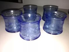 Riihimäki Revontuli lasi sininen 5 kpl - Huuto.net Mason Jars, Candle Holders, Candles, Design, Mason Jar, Porta Velas, Candy, Candle Sticks