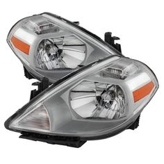 For 2007 2008 2009 2010 2011 2012 Versa Replacement Headlights Replacement 07 08 09 10 11 12 Headlamp Left+Right Set Pair 26060EM30A, 26010EM30A,NI2502165, NI2503165, Silver