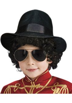 3bb5009a684 Check out Child Michael Jackson Fedora Hat - 2018 Costume Accessories