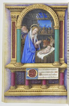 'Deus, in adjutorium meum intende; Domine, ad adjuvandum me festina.' (Graciously rescue me, God! Come quickly to help me, LORD!) Psalm 70:2 // The Nativity of Our Lord Jesus Christ / Book of Hours // ca. 1515-1520 // Jean Bourdichon // Isabella Stewart Gardner Museum // #Christmas #Navidad