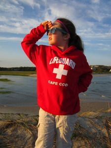 Cape Cod Lifeguard Hoodie Sweatshirt for KIDS: Super cute and totally trending.